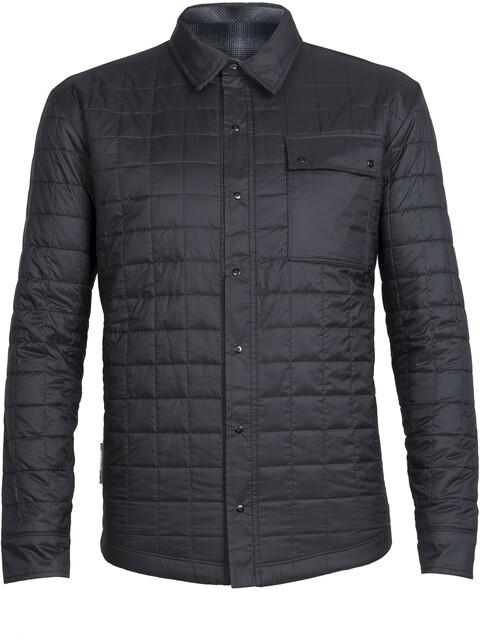 Icebreaker M's Helix LS Shirt Black/Metro HTHR/Stealth